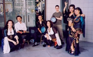 With Leah, Adel Awad and drummers, Nourmaya and Rahma Haddad, Vancouver